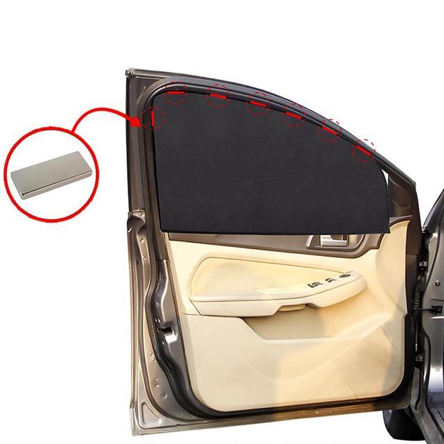 Magnétique voiture pare-soleil Protection UV voiture rideau voiture fenêtre latérale arrière fenêtre maille pare-soleil été Protection fenêtre Film voyage