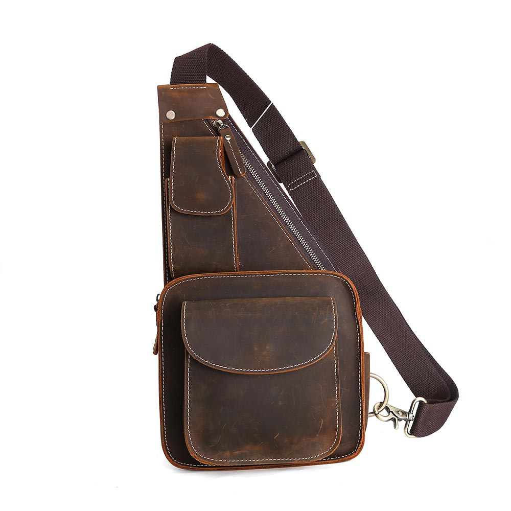 Leather Sling Bags Promotion-Shop for Promotional Leather Sling ...