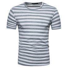 cda567d8d NIBESSER Casual Masculino T-shirt Masculina Verão T Camisas Listradas Moda  Personalizado T-shirt Dos Homens de Manga Curta Tops .