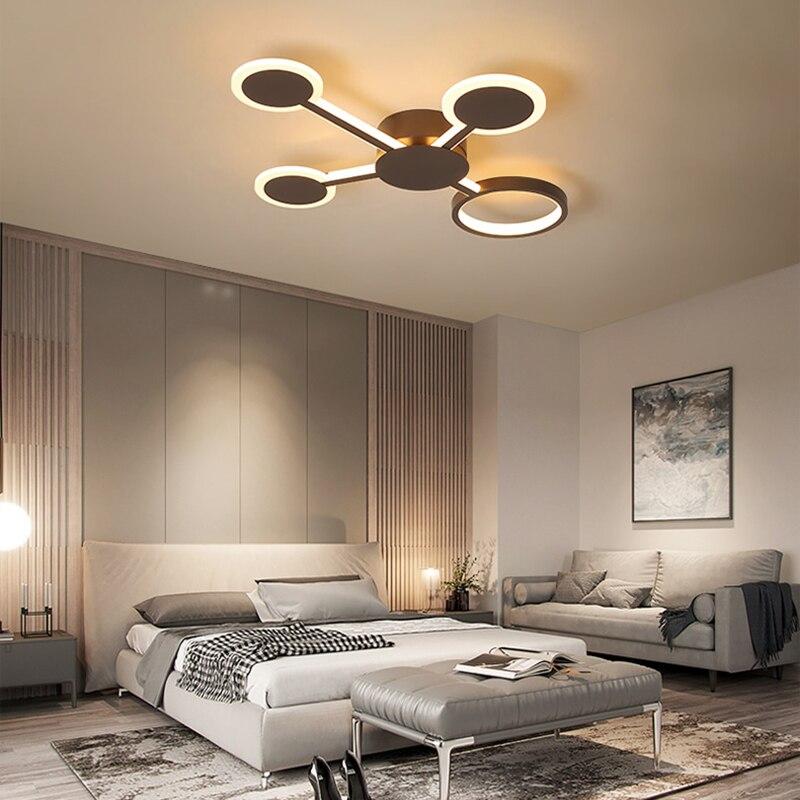Image 3 - Remote Controller New Design Modern Led Chandelier For Living Room Bedroom Study Room Home Coffee Color Finished Chandelier-in Chandeliers from Lights & Lighting