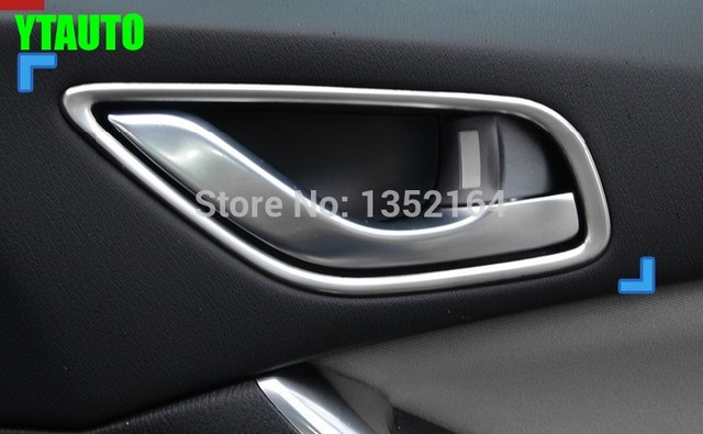 Auto interior door handle trim sticker car styling for Mazda 6 2014 ...