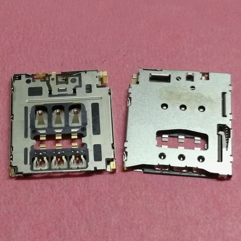 Generic 2pcs//lot6pin Memory Card Reader Holder Connector for Clamshell handset trau Slot.