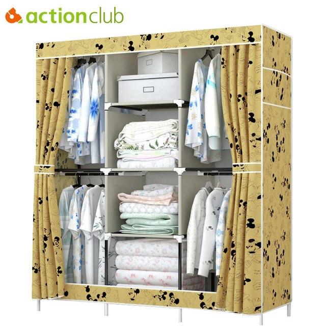 Actionclub Wasserdichte Oxford Tuch Kleiderschrank Falten Stoff ...