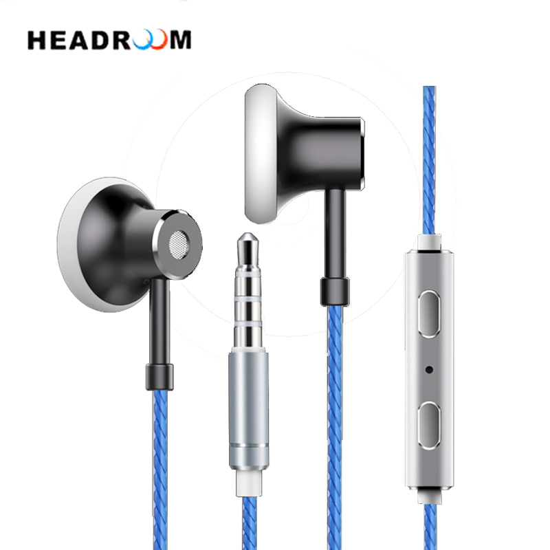 HEADROOM MS16 in-ear Earphone with Mic Sports Headset Women Man Noise Canceling Stereo Bass Headphone for Computer iPhone xiaomi plextone x46m in ear earphone removable metal 3 5mm stereo bass earbuds gaming headset with mic for computer phone iphone sport