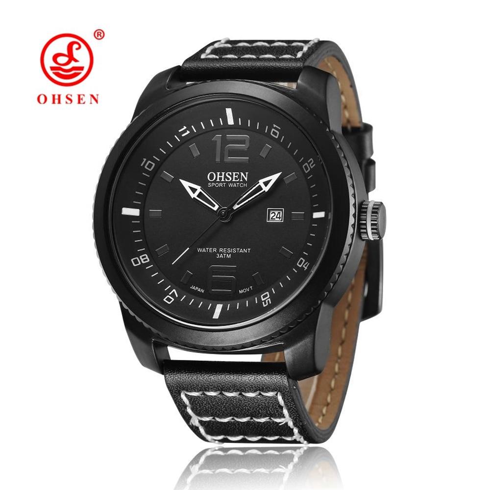 NUEVO OHSEN Mens Relojes Deportivos Fecha Automática Analógica - Relojes para hombres