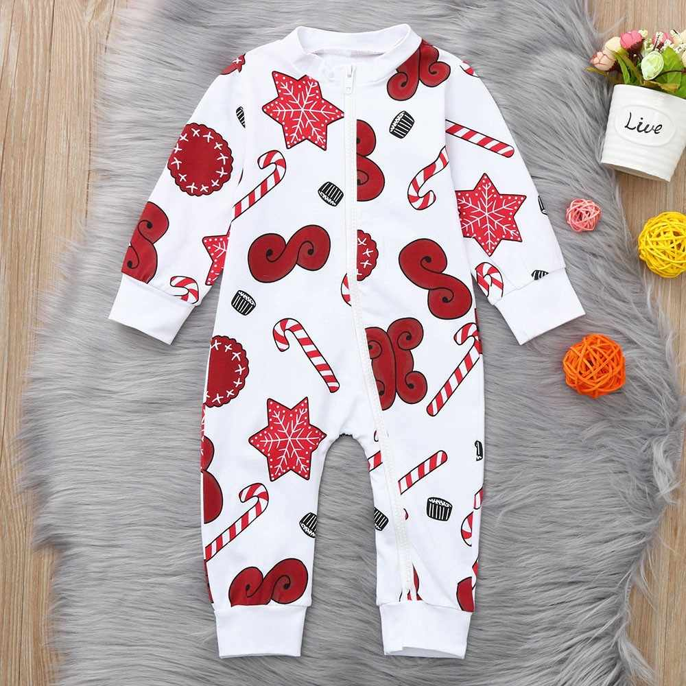 c2cb5be5573 Christmas Toddler Newborn Baby Cartoon Snowflake Zipper Romper Xmas  Jumpsuit Sweet casual style Wholesale Dropshipping 30
