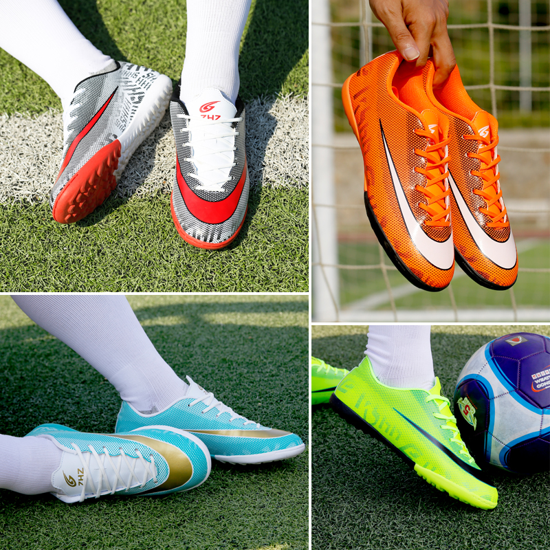 513395209 Professional Men Turf Indoor Soccer Shoes Cleats Kids Original Superfly  Futsal Football Boots Sneakers chaussure de foot-in Soccer Shoes from  Sports ...