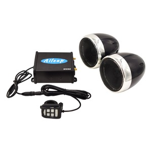 """Image 3 - Aileap Motorcycle/ATV Audio System with Bluetooth FM Radio Aux Input Wired Control One Pair of 4"""" Waterproof Speakers"""
