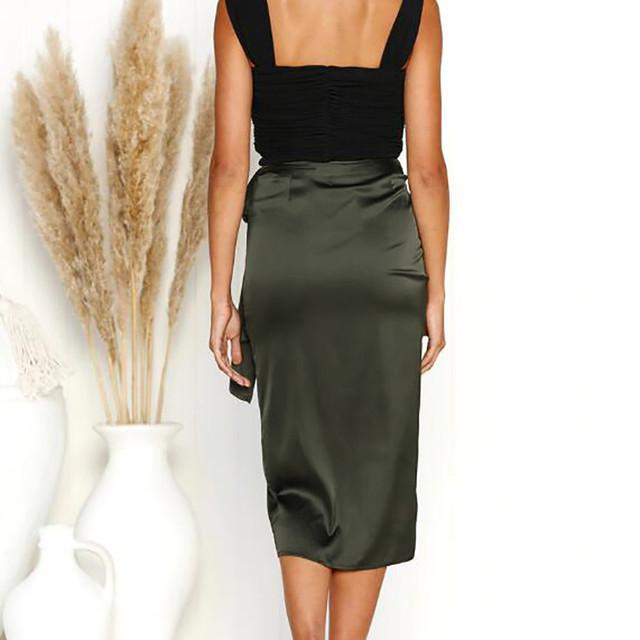 Newest Women Chiffon Leopard Print Maxi Skirt Ladies High Waisted Summer Long Skirts Split Bandage Evening Party Skirt f763