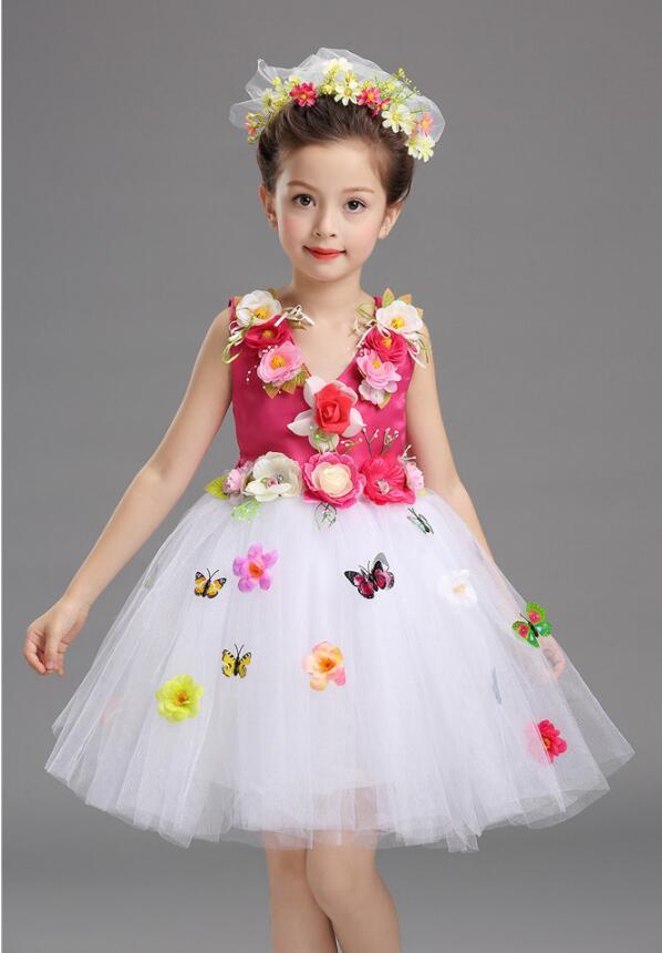 Платье для балета с блестками для девочек; нарядное детское платье для бальных танцев и сценических танцев; детское платье-пачка для выступлений в джазовом стиле - Цвет: Rose Red