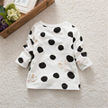 Child Kids Baby Girls Boys Unisex Polka Dots Long Sleeve Tops T-Shirt Cotton Basic Tees