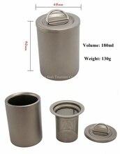 Чистый Титан EDC Чай чашки с двойными стенками 180 мл 130 г с крышкой Чай сеть фильтра для один открытый путешествия