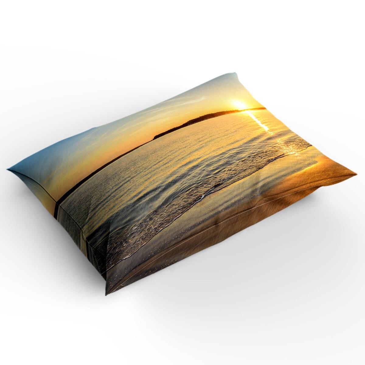 BIGHOUSES Bettbezug set Sunset meer landschaft strand wasser horizon natur landschaft Duvet Abdeckung 4 Stück Bettwäsche Set - 2