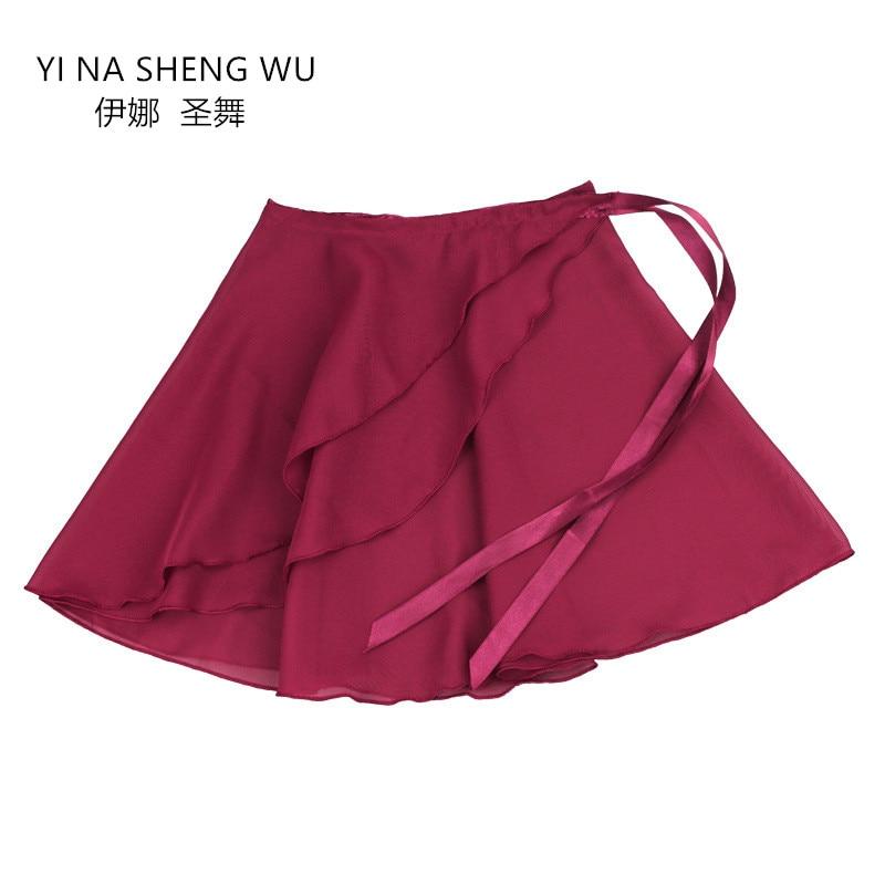 2019 New Children's Ballet Dance Clothes Girls Practice Clothes Chiffon Skirt Adult Performance Short Skirt Dancewear