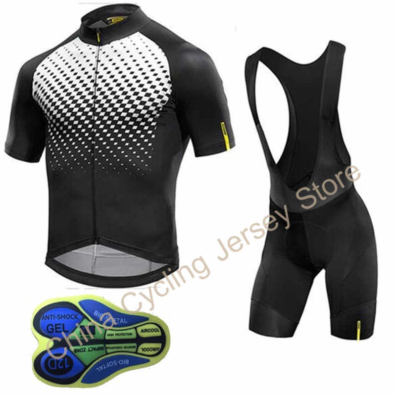 e790cabaa805 Detail Feedback Questions about 2019 Mavic Pro Team Mens Cycling Jersey  Bicycle clothing Bike Wear with bib shorts Gel clothing abbigliamento  ciclismo ...