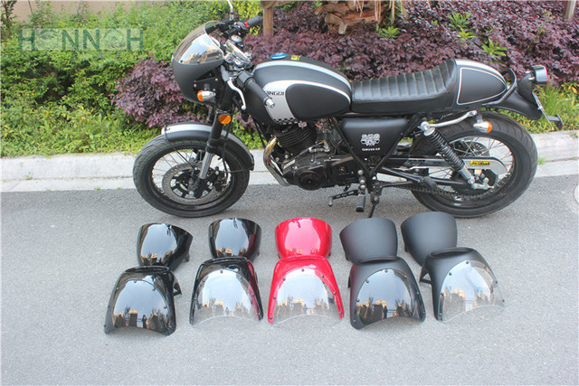 Cafe Racer Fairing With Seat Cover Retro Motorcycle Headlight Mirrors Hood Vintage UNIVERSAL FIT 7