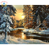 Diy Coloring Picture By Numbers Painting Calligraphy Canvas Pictures For Living Room Drawing By Number Sunset
