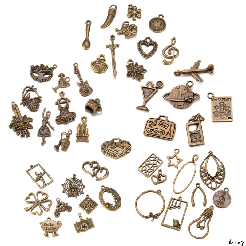 20 Pcs Mixed Bronze Little Prince Spider Ballet Charms Pendants DIY for Jewelry Making image