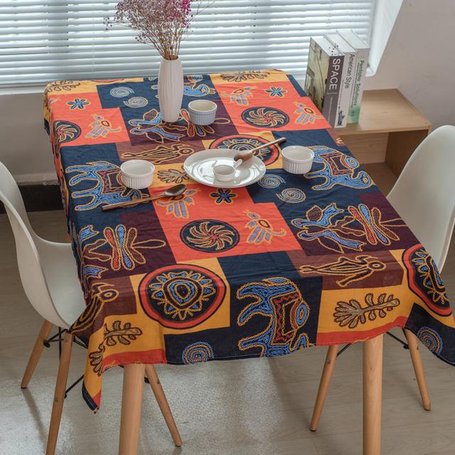 Maya Style – Decorative Tablecloth – Cotton Linen