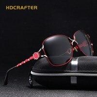 Fashion Cat Eye Sunglasses Women HDCRAFTER Brand Designer Sun Glasses For Ladies Vintage Mirror Colorful Lens
