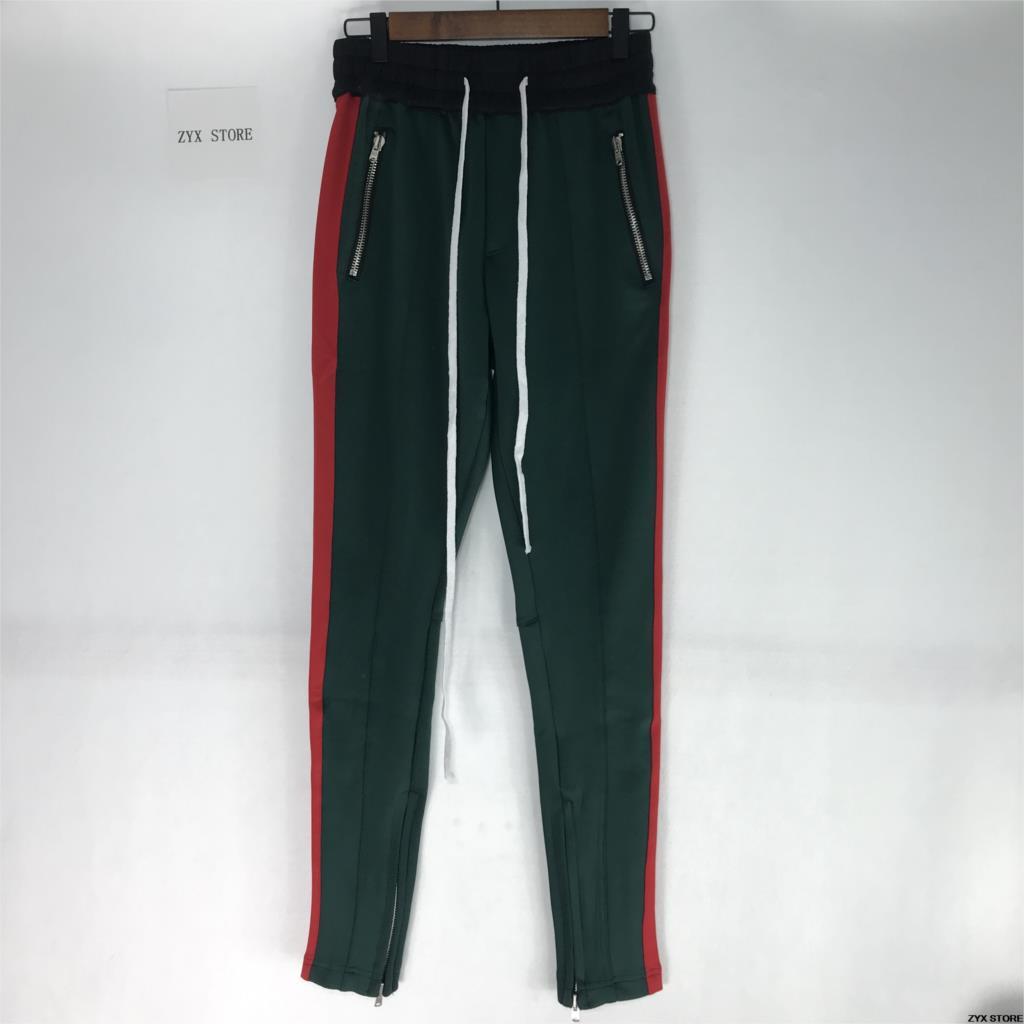 2017 Meilleure Version 1:1 BROUILLARD pantalon de survêtement La Peur De Dieu Hommes Zipper Pantalon glissière latérale pantalon de survêtement casual hommes hiphop pantalons jogging