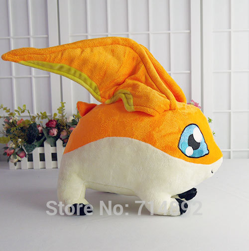 Patamon plush toy anime Digimon Adventure Takaishi Takeru pet patamon 35cm high quality short plush doll pillow free shipping hot sale short plush chew squeaky pet dog toy