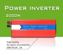 2000w Solar Inverter Multifunctional Travel Power Supply Control Dual USB Car power inverter DC 12V AC 220V Power Conversion