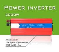 Comprar Inversor Solar de 2000w multifuncional de Control de fuente de alimentación de viaje Dual USB inversor