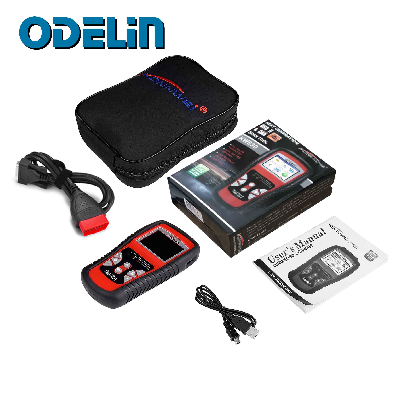 Scanner automatique de KONNWEI KW830 OBD2 pour l'outil de Diagnostic de voiture Scanner de Diagnostic universel automatique de lecteur de Code d'erreur de défaut