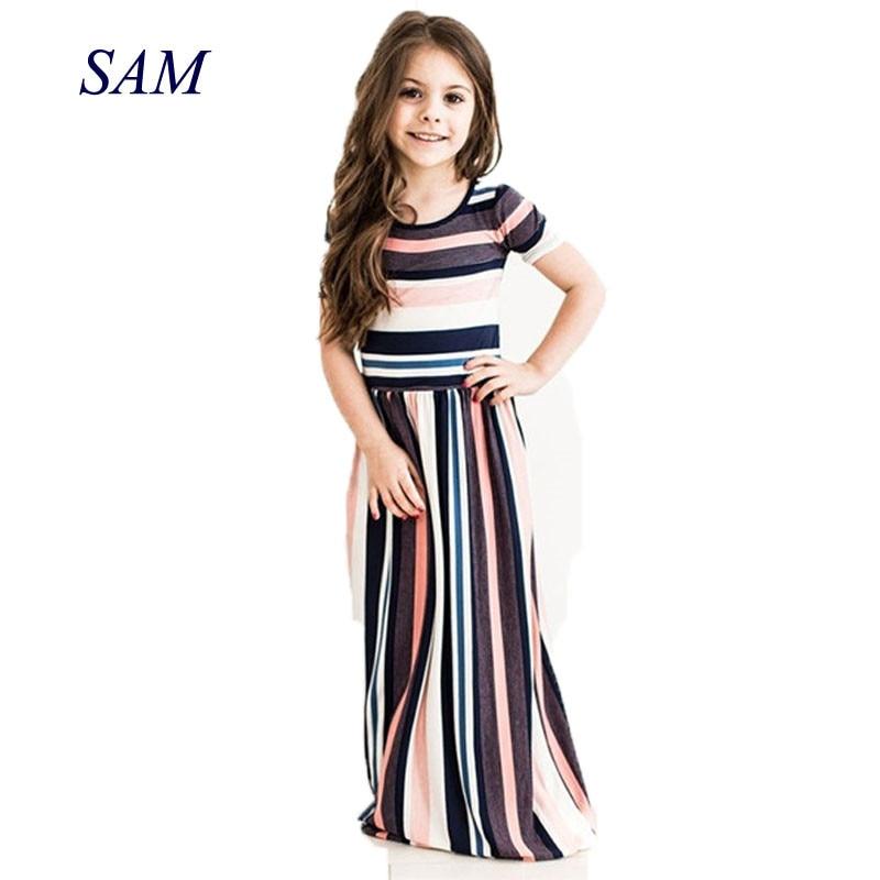 2018 letnie dziewczyny europejska i amerykańska sukienka dziecięca - Ubrania dziecięce - Zdjęcie 1