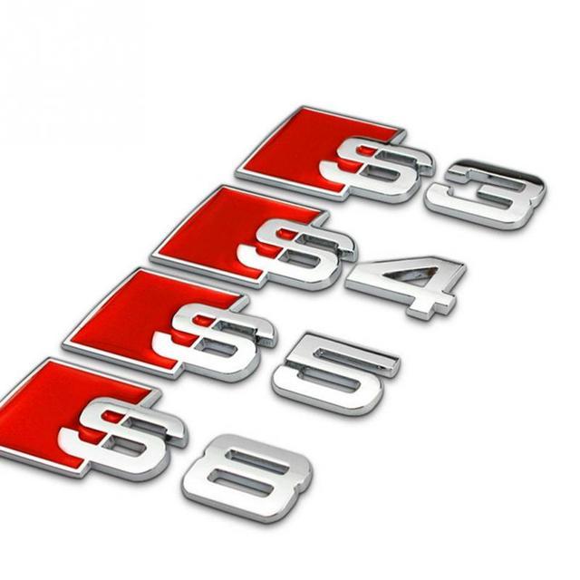 3D Aluminum Audi S Line (S3, S4, S5, S8) Stickers