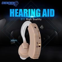 New Cheap BTE Hearing Aid Best Sound Voice Amplifier Volume Adjustable Behind Ear Auto Noise Reduction Aids Care стоимость