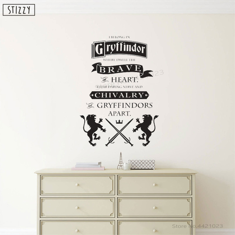 Stizzy Wall Decal Harry Potter Quote Wall Stickers For Kids Room