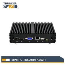 Thunderspeed intel mini pc windows 10 j1900 quad core безвентиляторный мини-компьютер linux os дешевой цене