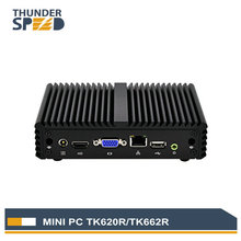 ThunderSpeed Intel Mini PC Windows 10 J1900 Quad Core Fanless Mini Computer Linux OS Cheap Price