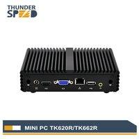 THUNDERSPEED Intel Mini PC Windows 10 J1900 Quad Core Fanless Mini Computer Linux OS Cheap Price