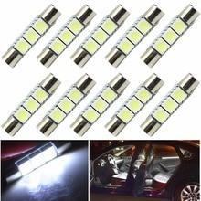 12PCS 6000K White 31MM 3-SMD 6641 Fuse Car LED SUN Visor Vanity Mirror Light Bulb xm lt6 885lm led emitter 6000k white light bulb 3 0 3 5v