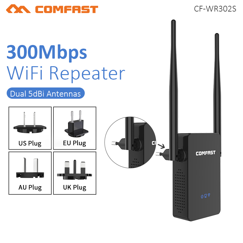 Comfast CF WR302S Wireless WIFI Router Repeater 300M 10dBi Antenna Wi fi Signal Repeater 802.11N/B/G Roteador Wi fi Rang Extende-in Wireless Routers from Computer & Office
