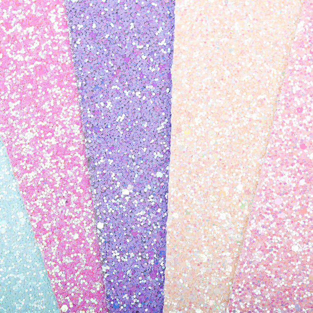 22*30cm צבעים בוהקים נצנצים עור בד מוצק מבריק פאייטים גיליונות Diy אביזרי בד מלאכת טלאי חומר