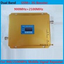 Для России Dual Band 2 Г 3 Г ЖК-Дисплей усилитель Сигнала! GSM 900 GSM 2100 Мобильный Телефон Сигнал Booster Усилитель 3 Г GSM Репитер