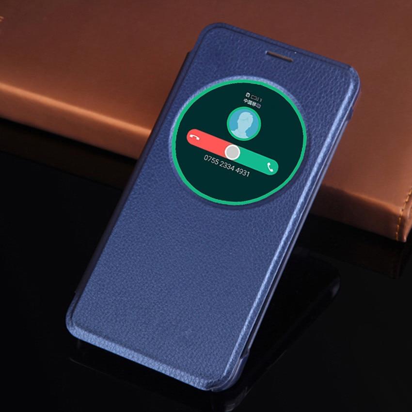 Smart View Case With Circle Window Auto Sleep Wake Phone Bag Shockproof Flip Cover Hoslter For Asus Zenfone 3 ZE520KL / ZE552KL