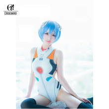 ROLECOS Anime EVA Cosplay Swimsuit Ayanami Rei Cosplay Asuka Langley Soryu Neon Genesis Evangelion Cosplay Summer Swimsuits(China)