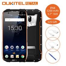 Хорошее Oukitel WP5000 IP68 Водонепроницаемый 5,7 «18:9 мобильного телефона Android 7,1 Helio P25 Восьмиядерный 6 ГБ 64 ГБ 5200 мАч отпечатков пальцев 4 г смартфон