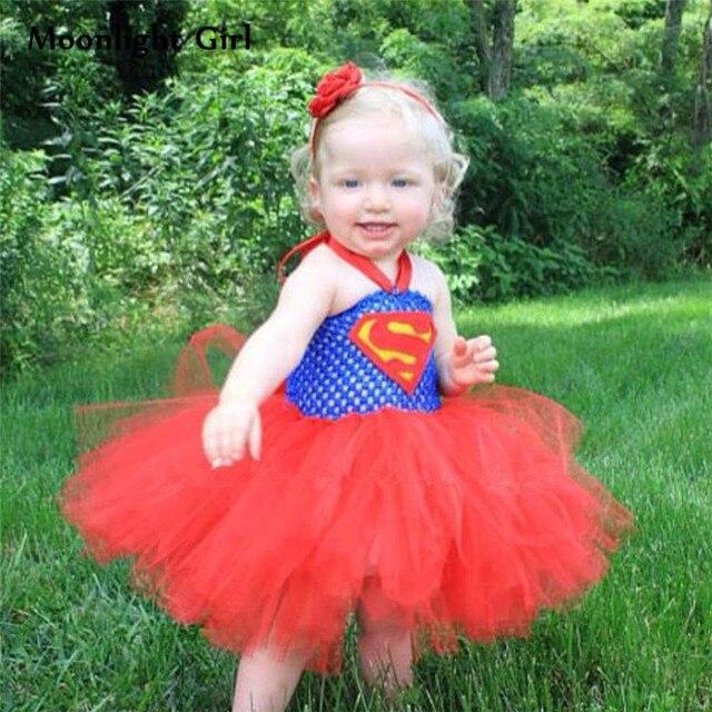 e51b14bae6a4 Batgirl Superhero Costumes Girls Tutu Dress Halloween Supergirl ...