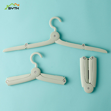 SYTH Folding Plastic Hangers With Hooks For Clothes Towel Organizer Laundry Hanger Rack Travel Outdoor And Home Wardrobe Storage