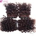 OMGA Перуанский Джерри Вьющиеся Волосы Девственницы 4 шт. 120 г/компл. Человеческих Волос перуанский Вьющиеся Волосы 4*8 дюйма Волос Соткет 1B #2 #4 7A