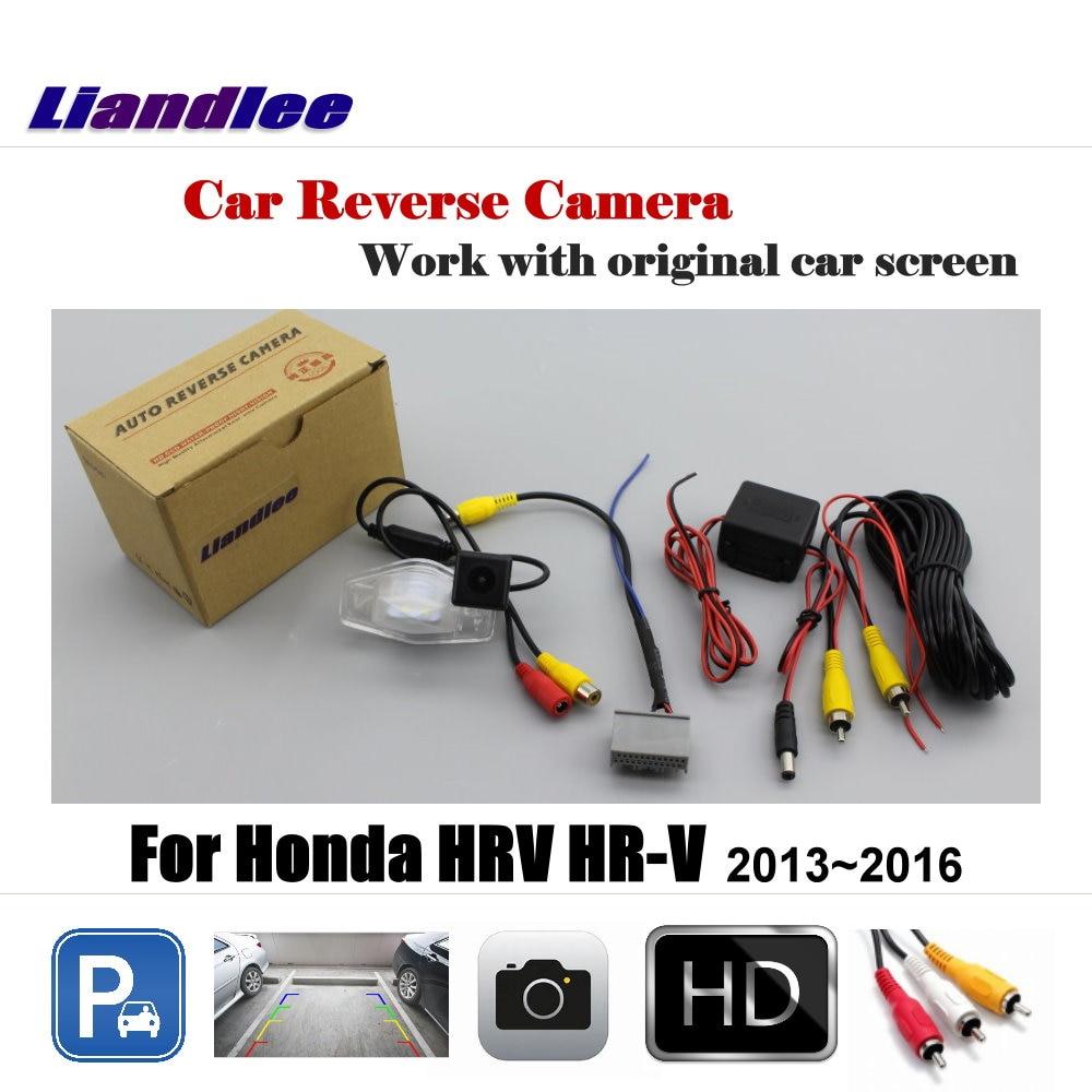 Retrovisor Do Carro Câmara de Estacionamento Reverso Para Honda HRV Liandlee HR-V Vezel 2013 ~ 2017 Display/Rear View Backup Invertendo câmera