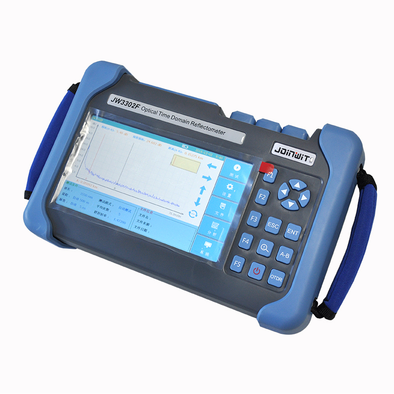 JW3302F S1 OTDR Optical Time Domain Reflector Single mode 1310/ 1550nm 32/30dB Optical OTDR Tester Integrated Touch Screen