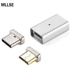 MLLSE 2 w 1 magnetyczny adapter Micro USB + TYPE-C ładowania kabel konwertera dla SAMSUNG Xiaomi HUAWEI LG Lenovo Asus HTC Moto