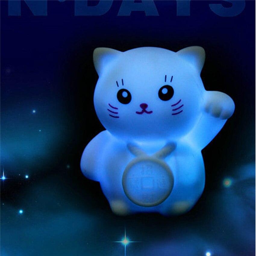 Новинка Магия Изменение Цвета красочные светодиодный Лаки Night Cat свет мигает Лампа Спальня праздник Домашний Декор Детские свадебные подар...